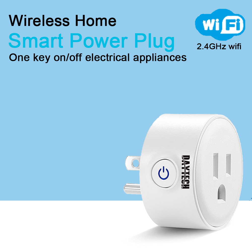 DAYTECH WiFi Home Smart Power Plug Mini Electric Smart Socket APP Control Home Application Timing Outlet US Plug wi fi enabled mini outlets smart socket control your electric devicsmart us plug wifi smart wireless socket m 16
