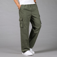 Trousers Men Fashionable High grade Recreational And Loose Korean Style Men Plus Size Mens Cargo Pants With Many Pockets