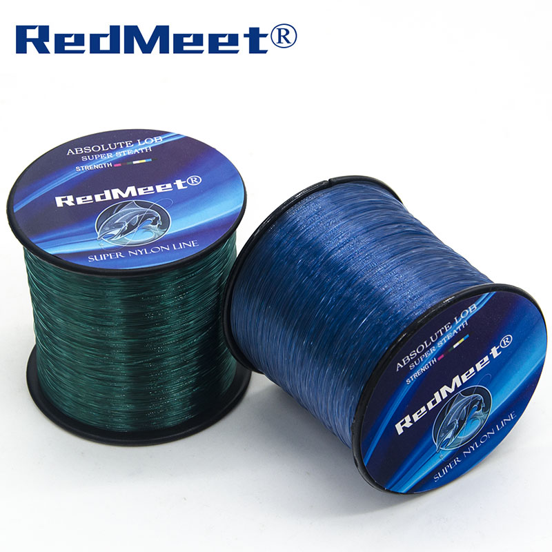 RedMeet Brand The Best Monofilament Nylon Fishing Line 1000m 4.4LB-28.6LB Japan Material Super Fish Line 1.0#-8.0# Green/Blue