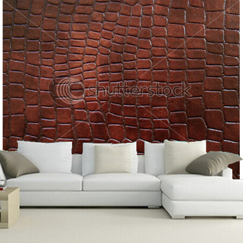 The custom 3D murals,Leather with crocodile dressed texture. papel de parede,living room sofa wall bedroom wall paper custom 3d murals tropical texture with toucans and hummingbirds papel de parede living room sofa tv wall bedroom wallpaper