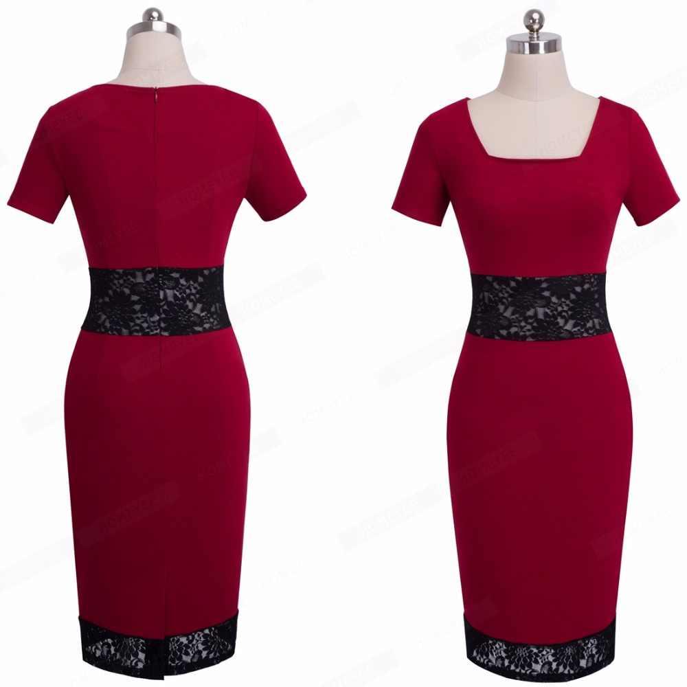 77079f90b8e ... Для женщин Винтаж кружевное платье с цветочным рисунком элегантные  летние шорты рукавом квадратный воротник носить на ...