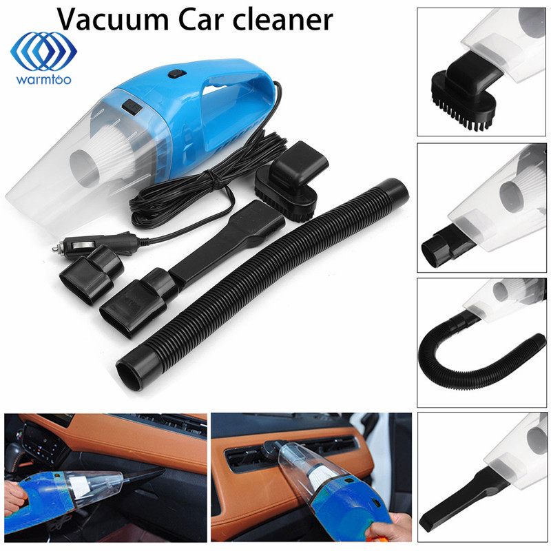120W DC12V Super Suction Handheld Cyclonic Car Vehicle Vacuum Cleaner  Blue Rechargeable Wet Dry Duster dc 12v 120w portable super suction handheld vacuum dirt cleaner wet