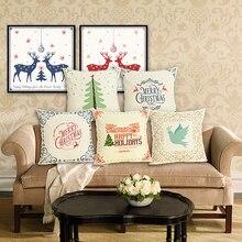 Christmas cushion cover Letter pillow case cojins/almofadas 45Cmx45Cm Square Valentine Day Gift Handmade 3D Throw Pillows cartoon christmas square cushion throw pillow case