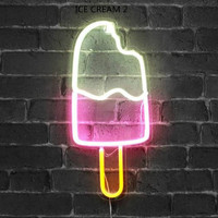 10 Kind LED Neon Lights Neon Sign Panel Lights Christmas Xmas Party Colorful Neon Yellow Pink Lamp for Home Room Bar Decoration