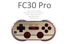 8Bitdo FC30 Pro Wireless Bluetooth Gamepad Controller Dual Classic Joystick for Switch Android Gamepad PC Mac Linux Grey Color