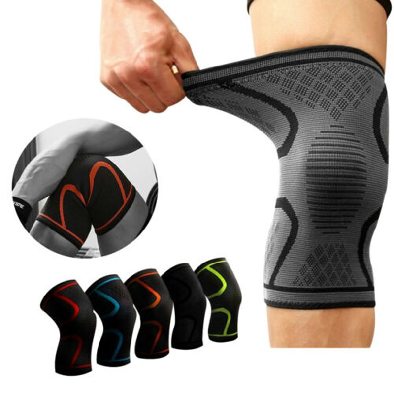 2PCS Sports Running Cycling Gym Knee Pad Support Braces Elastic Nylon Compression Knee Protector Sleeve For Volleyball Basketbal