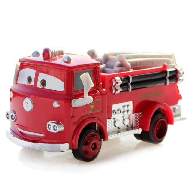 Cars 1 And 2 Toys : Disney pixar cars toys car red firetruck metal