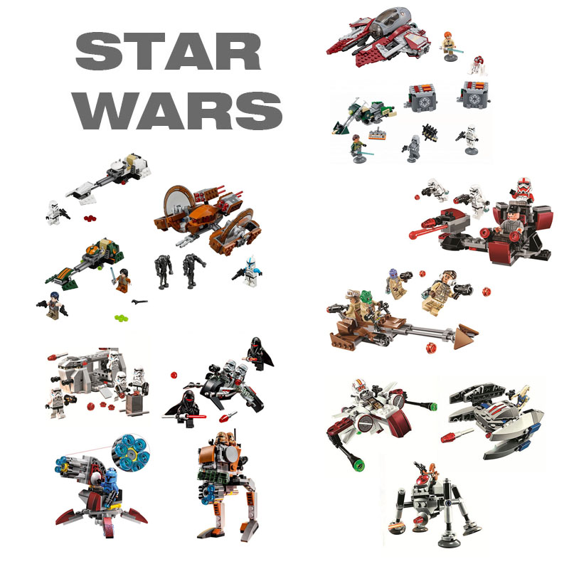 цены Compatible with Giftse Star Wars Interceptor Building Blocks Bricks Toys Action Figures Compatible With Legoe Toy Pogo Bela