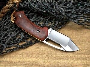 Image 4 - LCM66 D2 staal Vouwen Mes, Rode schaduw hout Survival Messen, Zeer sharp Mini Rescue Zakmes, gift Sleutel mes Gereedschap
