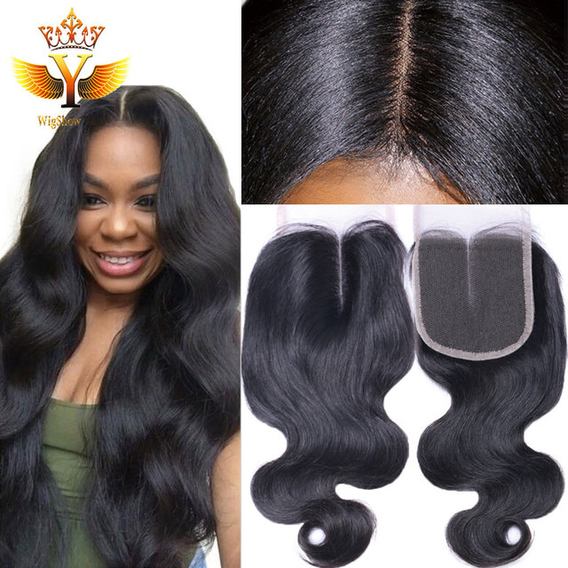 Thick End Indian Virgin Hair Lace Closure Body Wave Raw Remy Wet And