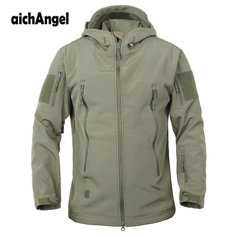 Leger Camouflage Militaire Tactische Jas Mannen Soft Shell Waterdicht Winddicht Jas Winter Kapmantel
