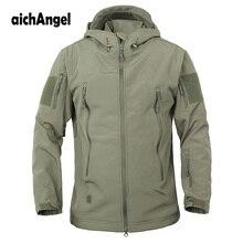 Armee Camouflage Military Tactical Jacke Männer Soft Shell Wasserdicht Winddicht Jacke Winter Mit Kapuze Mantel