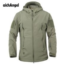 육군 위장 군사 전술 재킷 남자 소프트 쉘 방수 Windproof 재킷 겨울 후드 코트