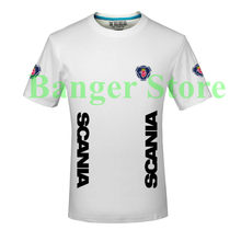 Free shipping scania truck t shirt for men and women clothing cotton short-sleeved dress Slim Korean(China)