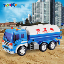 Wireless Engineering Remote Control Watering Cart Musical,Flashing Children Educational Toys Gifts for Kids