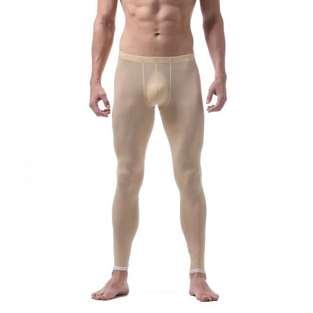 Estilo de moda hombres Sleep Bottoms ropa interior Boxer largo Sexy de cintura baja ropa de dormir pantalones de dormir gimnasios fitness ropa de Culturismo