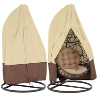 Outdoor Dustproof Waterproof Patio Hanging Chair Cover Wicker Rattan Swing Covers Anti UV Windproof Garden Seat Resistant Case