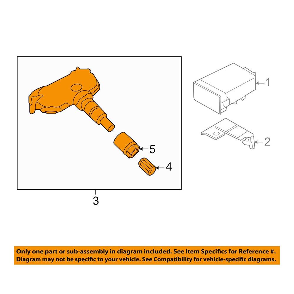 Pour Hyundai Kia 4 PC TPMS capteur de système de surveillance de pression des pneus SET-TS07 entier 52933-2F000 - 6