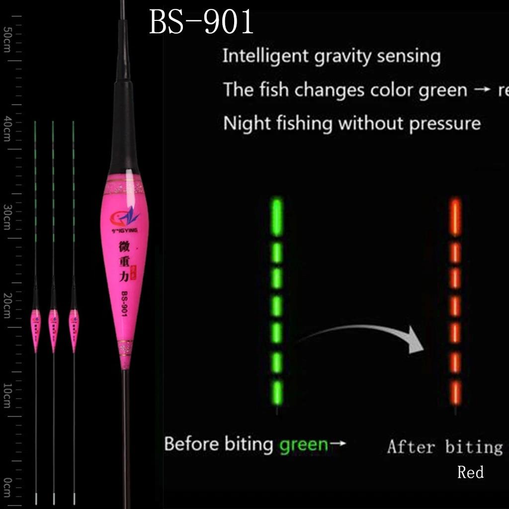 Unisex Night Smart Luminous Fishing Float Remind Auto Led Light Fishing gear New
