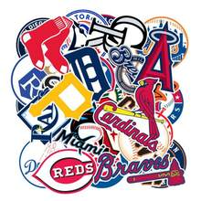 30pcs/Lot No Repeat Baseball Stickers Brand Graffiti Stickers Scrapbooking Moto Suitcase Guitar Waterproof Skateboard Stickers(China)