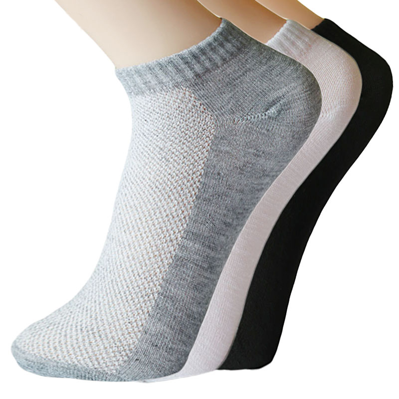5Pairs Men Pure Colors Socks Casual Breathable Low Cut Ankle Socks Summer Thin Boat Sock Cotton Blends Art Socken