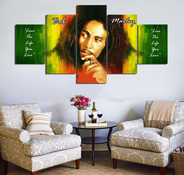 Edredon Bob Marley.Us 5 99 51 Off 5 Pieces Wailing Wailers Reggae Originator Bob Marley Home Wall Decor Canvas Picture Art Hd Print Painting On Canvas Artworks In