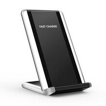 10 Вт Qi Беспроводное быстрое зарядное устройство с дыхательным светом для iPhone X samsung huawei Xiaomi подставка для мобильного телефона Быстрая зарядка 4,0 QC 3,0