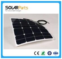 Desporto ao AR Solarparts 1 PCS 50 W PV Painel Solar e módulo Solar Célula Flexível Livre Viagem RV Iate Marinha Motor Home USO DA Bateria