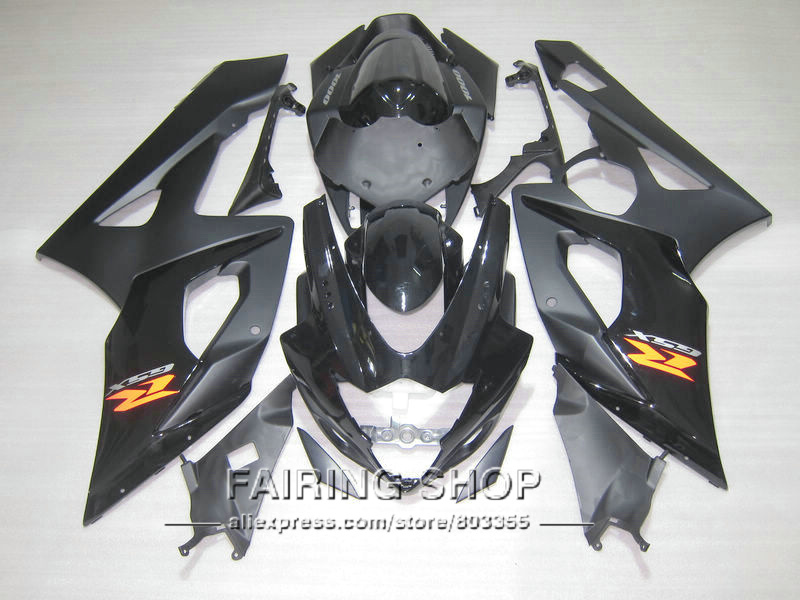 Top-selling injection molding plastic fairings for Suzuki GSXR1000 K5 K6 2005 2006 yellow black fairing kit GSXR 1000 05 06 IK49