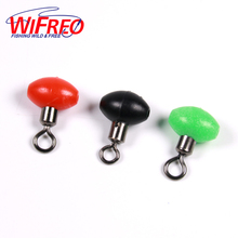 [ 20PCS/lot ] 8X12mm Red Green Black Bead with Rollowing Swivel Saltwater / Fresh Water Rig Making 3 Way Swivels for Fishing
