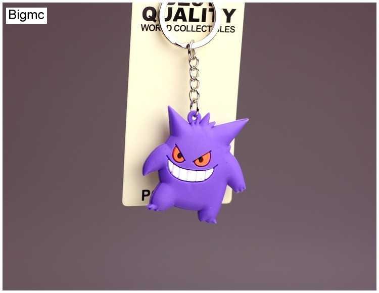 3d anime pokemon chaveiro pikachu bolso monstros chaveiro titular pingente mini figura dos desenhos animados brinquedos chaveiro k1725