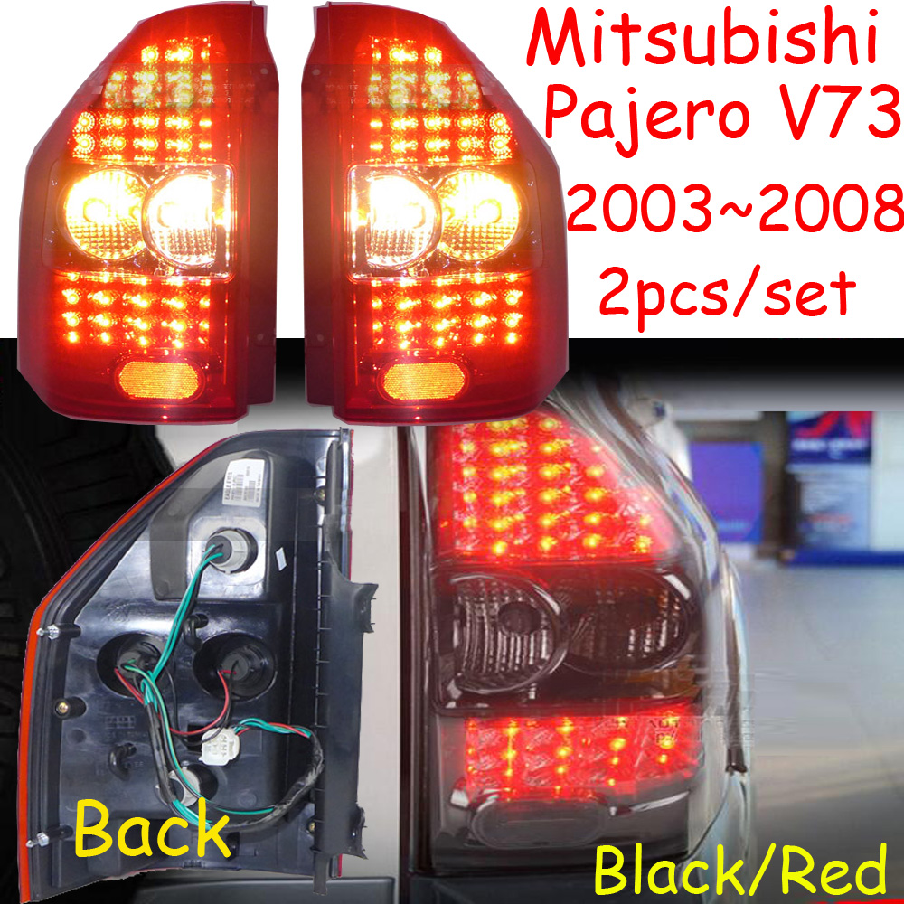 car-styling,Pajero Taillight,Montero,V73,2003~2008,Free ship!2pcs,Pajero fog light;chrome,Pajero tail lamp,Jimny,car-detector комплект проставок для лифт кузова pajero 2