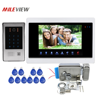 Free Shipping 1 0MP 720P AHD 10 Screen Video Intercom Door Phone Recording Monitor System RFID