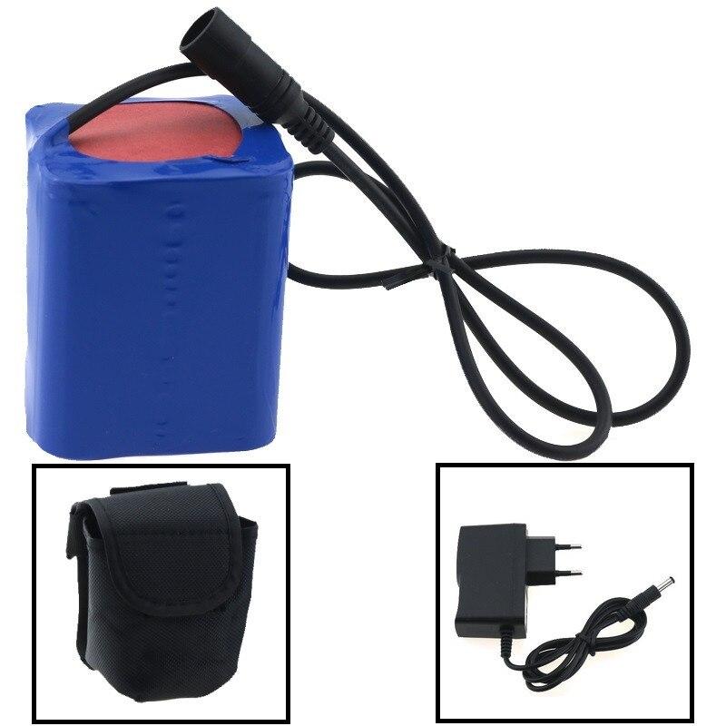 12 V 15000 mAh 9x18650 batterie rechargeable li-ion 18650 batteria pour vélo lumière vélo phare + chargeur de batterie 12 V