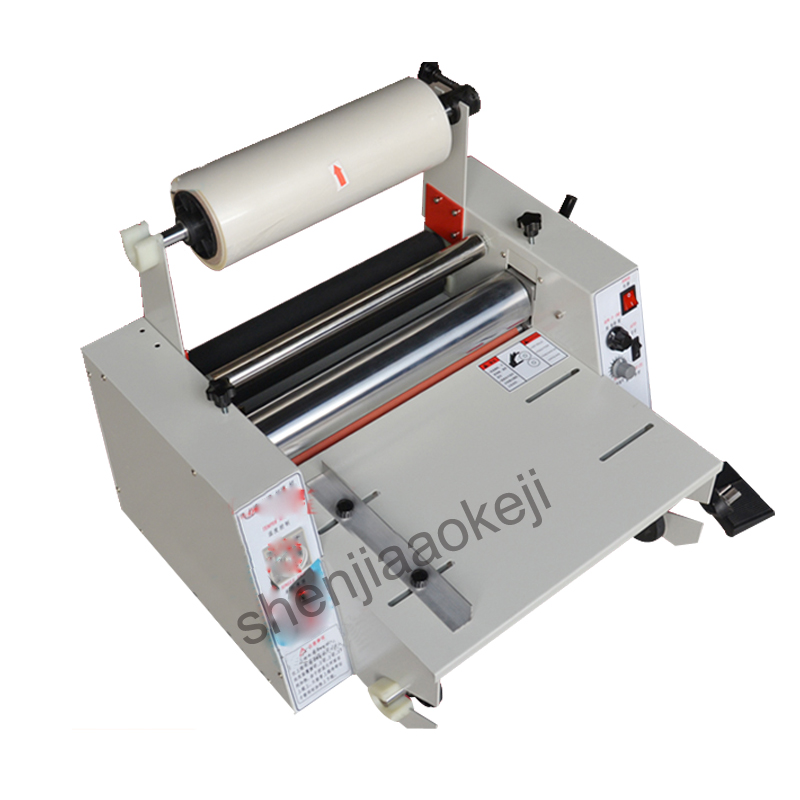 Paper laminating machine DC 380 hot laminator 365mm laminating machine Steel roller mulching machine 220V/110V 1pc
