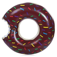 Gigantic Doughnut Pool Inflatable Swimming Float with Pump for Adult Water Game