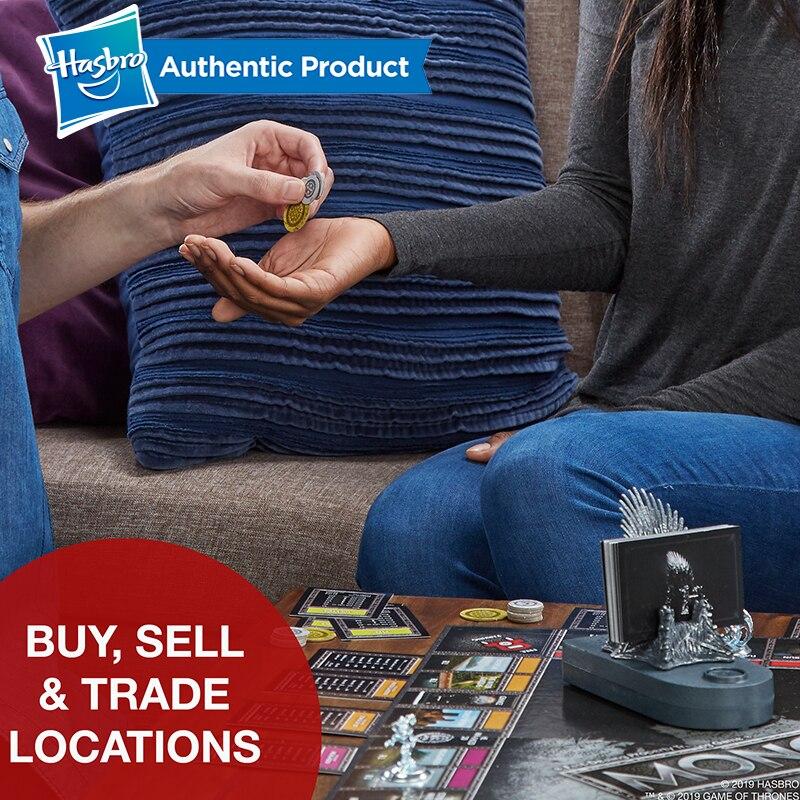 Hasbro Monopoly jeu de trônes jeu de société pour 18 ans et plus pour jouer pour adulte famille jeu ensemble Fans populaires marchandise - 3