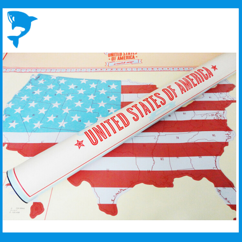 Wholesale Scratch off Map USA / U.S.A. Edition UNITED STATES OF ...