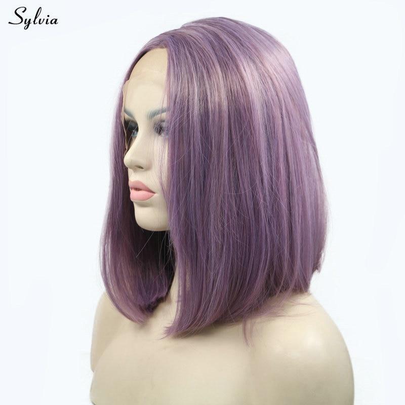 sylvia purple wig women girls