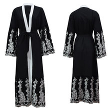 Dubai Embroidery Islamic Clothing Robe Abaya For Women Muslim Cardigan Long Dress Kimono Tanzania Turkish Kaftan Tunic(China)