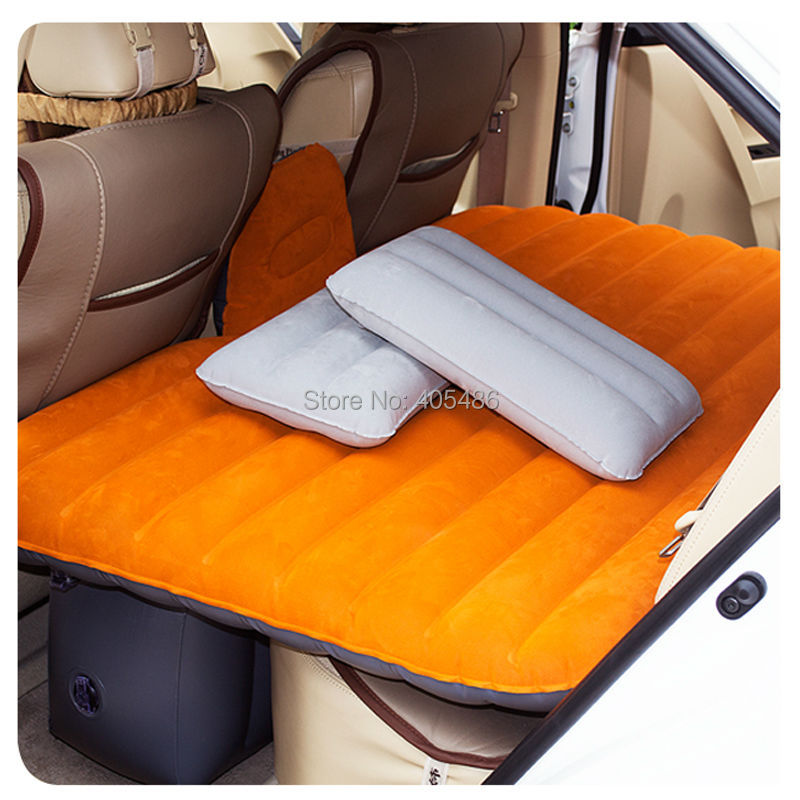 Portable Truck Covers : V pump inflatable mattress car back seat cover air