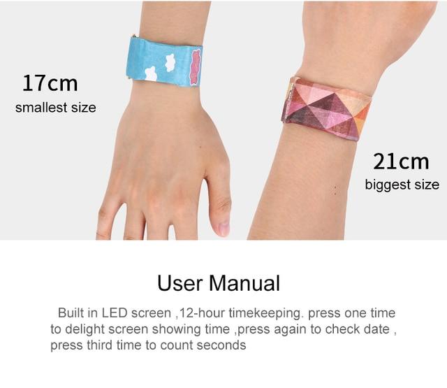 女の子かわいい LED 防水紙の時計創造クロック紙ストラップかわいいデジタル腕時計の少年少女のギフト