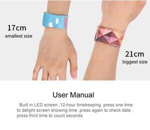 Image 1 - Mädchen Nette LED Wasserdichte Papier Uhr Kreative Uhr Papier Strap Nette Digitale Uhren Junge Mädchen Geschenk