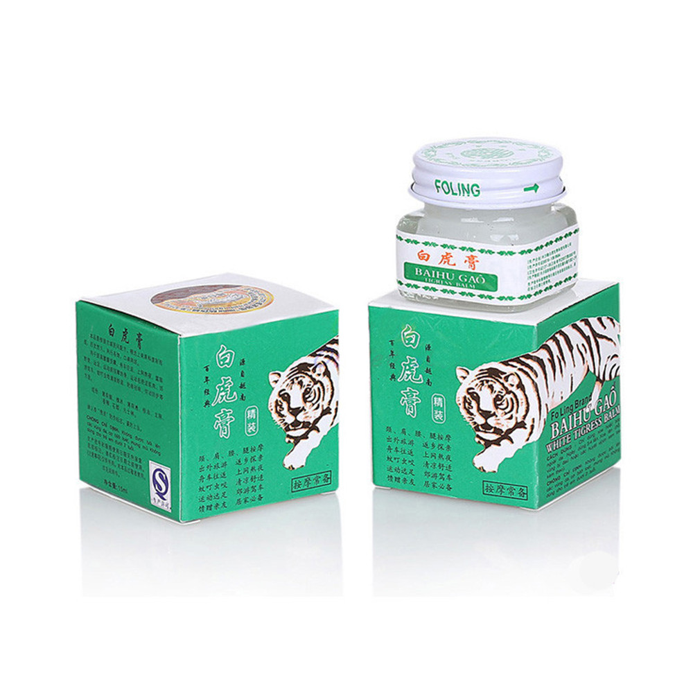 IFORY 1Pcs Vietnam 20g White Tiger Balm for Headache Toothache Stomach Ache Relief Baume Tiger Active Cream white tiger balm ointment soothe insect bites itch strength pain relieving arthritis joint massage body care oil cream l37
