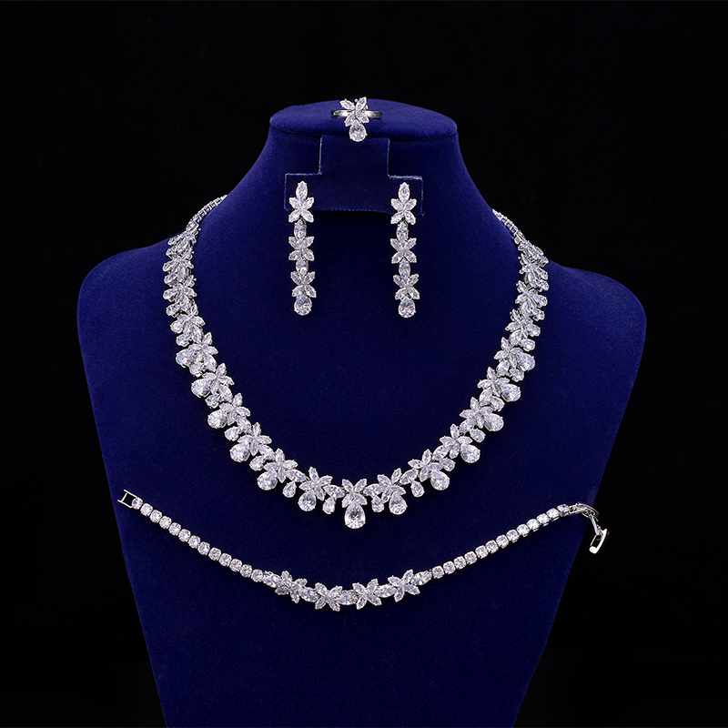 Jewelry Sets Bridal 4pcs...