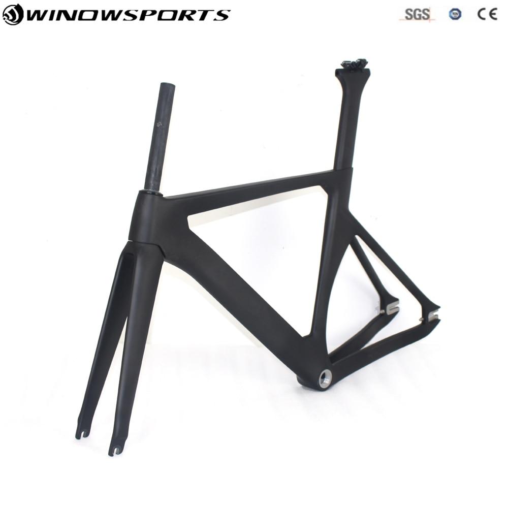 Carbon Fiber Bicycle Frame Track Bike Frame Carbon Super Frame+fork+seatpost+clamp Bicycle Aero Track Frameset Glossy/matt