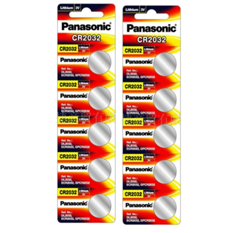 10 шт. PANASONIC CR2032 2032 3V Высокопроизводительные кнопочные батареи