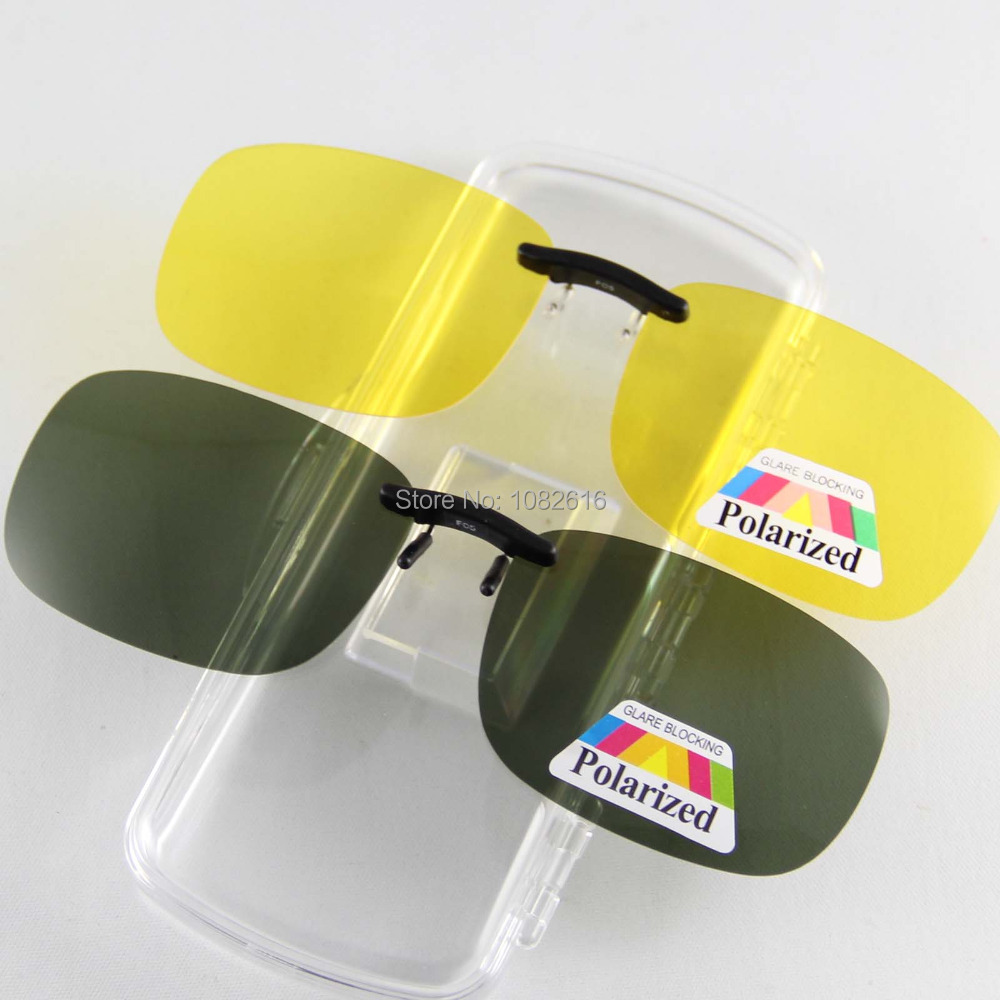 7a9b2958c2 Unisex Polarized Sunglasses Clip on Aviate Drive Sun Glasses Spectacles  UV400 Goggles Eyeglasses Yellow Night Vision Glasses