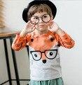 5 шт./лот Детские девушки футболки дети детей длинным рукавом orange Fox мальчики футболки 2-4 Т сильвия 544424063954