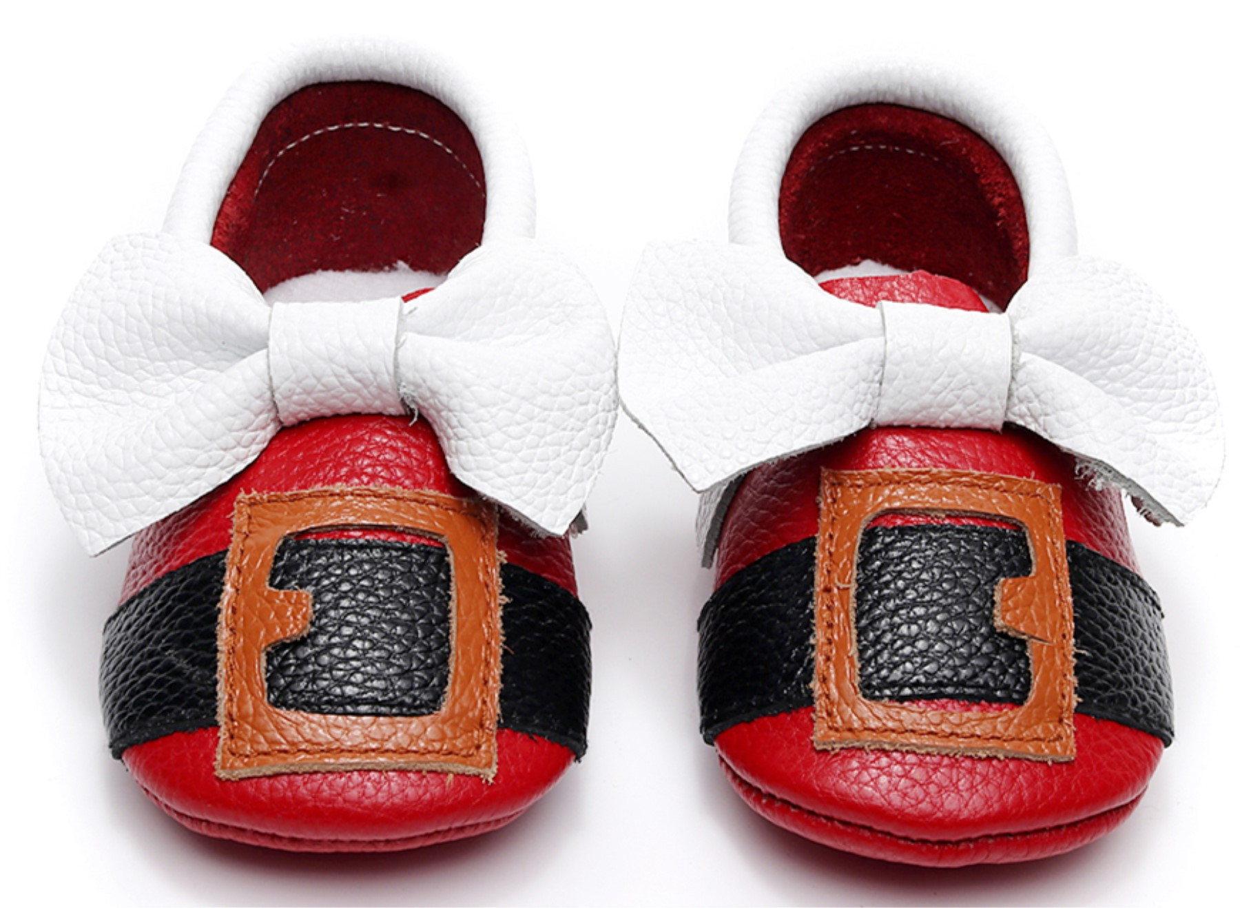 2018 Genuine Leather Baby Moccasins Cute Soft First Walkers Newborn Baby Gift